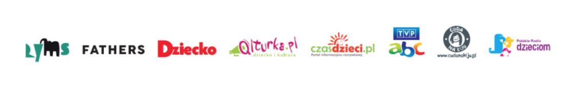 """Logotypy patronów medialnych """"Tata w sieci"""""""
