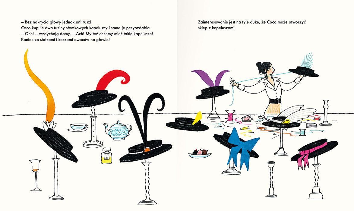 """Recenzje #166 - """"Coco i jej mała czarna sukienka"""" - kapelusze Coco Chanel - Francuski przy kawie"""